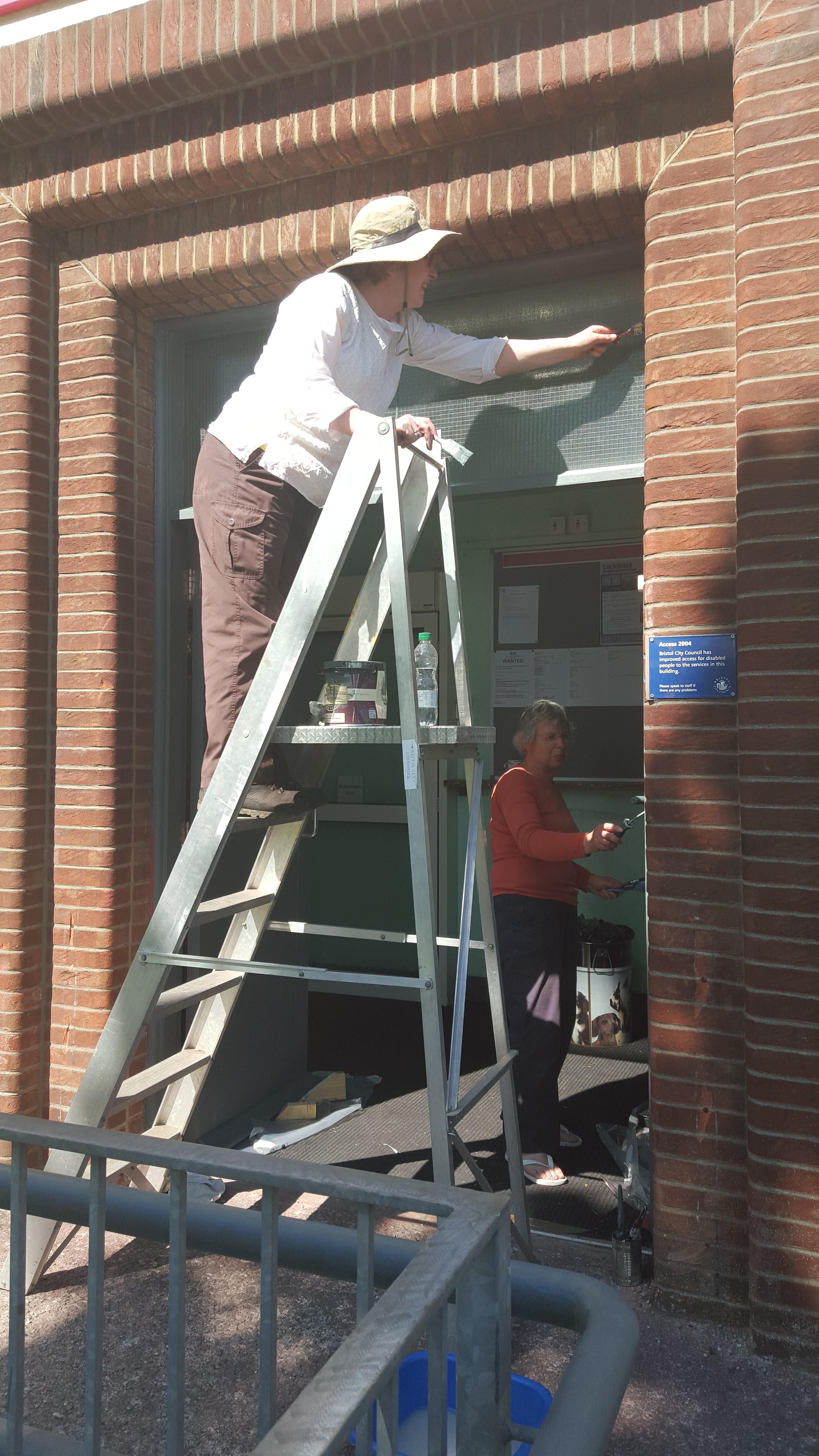 Painting the front doorway