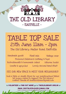 Old Library Table Top Sale Leaflet