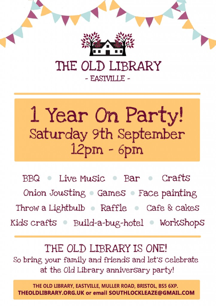 September Old Library 1 Year Party Flyer