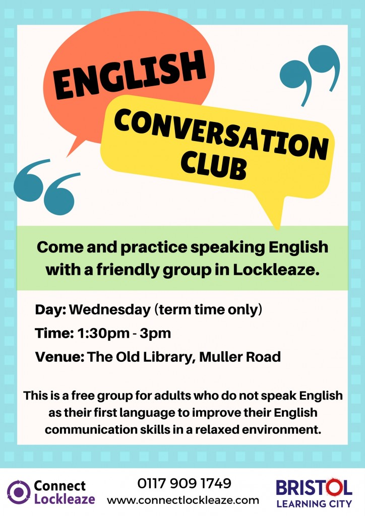 English Conversation Club poster Nov 2017