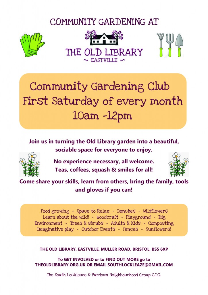 Old Library Community Gardening Club Flyer