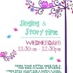 Singing and Storytime at the Old Library, Eastville, Bristol, poster
